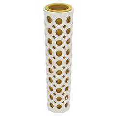 Benzara Amazing Styled Ceramic Pierced Vase