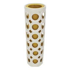 Benzara Classy Styled Patterned Durable Ceramic Pierced Vase