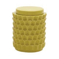 Benzara Sturdy And Useful Ceramic Yellow Jar