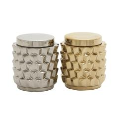 Benzara Priceless Ceramic Jar 2 Assorted