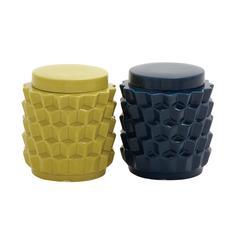Benzara Colorful Ceramic Jar 2 Assorted