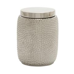 Lovely Ceramic Silver Jar