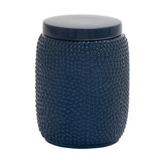 Benzara Artistic And Useful Ceramic Blue Jar