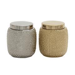 Benzara Classy Ceramic Jar 2 Assorted