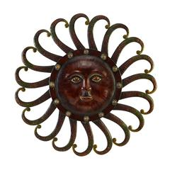 Metal Sun Wall Plaque Feel The Warmth Of Sun