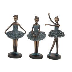 Benzara The Loveliest Polystone Dancers 3 Assorted