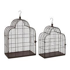 Benzara Classy Styled Metal Wire Bird Cage