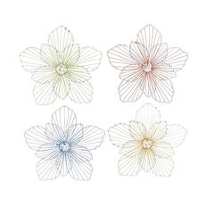 Benzara The Beautiful Set Of 4 Metal Wall Decor