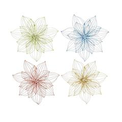 Benzara The Lovely Set Of 4 Metal Wall Decor