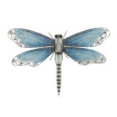 Gracefully Styled Metal Dragonfly