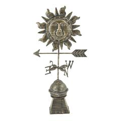 Superb Metal Sun Weather Vane