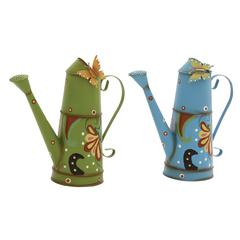 Artistically Designed 2 Assorted Metal Watering Can