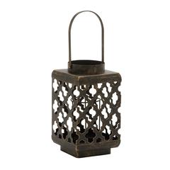 Benzara Innovatively Styled Metal Candle Lantern