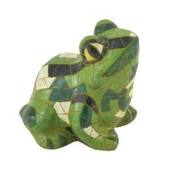 Creatively Styled Green Frog Décor