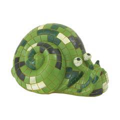 Benzara Artistically Styled Green Snail Décor