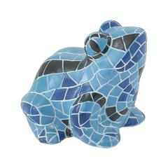 Vivid & Attractive Blue Frog Figurine
