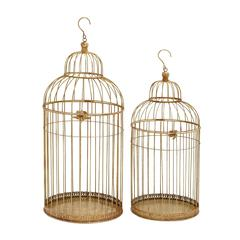 Enticing Set Of Two Metal Bird Cage