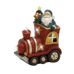 Benzara Adorable Led Santa With Engine Décor