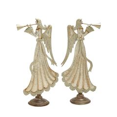 Benzara Striking Metal Angel 2 Assorted