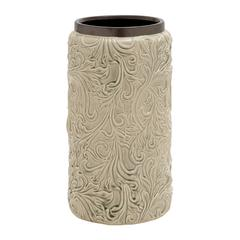 Benzara Cream Polished Wonderful Ceramic Vase
