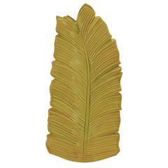 Benzara Unique Styled Fantastic Ceramic Leaf Vase