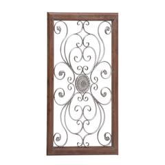 Benzara The Large Metal Wood Wall Plaque