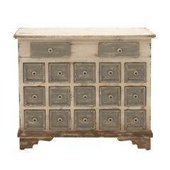 Benzara Customary Styled Wood 17 Drawer Chest