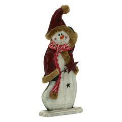 Benzara Charismatic Wood Metal Snowman