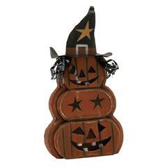 """Benzara Wood Metal Pumpkin Ghost 11""""W, 21""""H"""