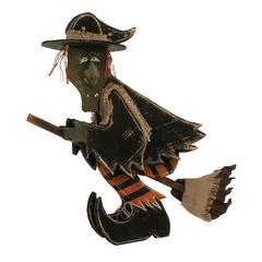"Benzara Distinctive Wood Metal Witch26""W, 23""H"
