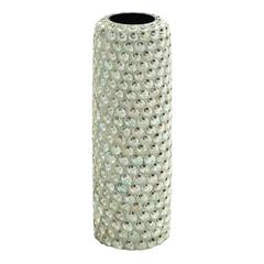 Durable And Weather Resistant Ceramic Seashell Vase In White