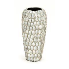 Benzara Classy Styled Ceramic Sea Shell Vase