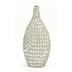 Benzara Striking Patterned Ceramic Sea Shell Vase