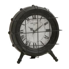 Benzara Alluring Metal Table Clock