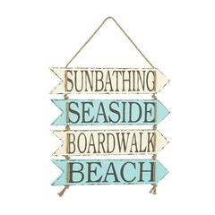 Beautiful Metal Beach Wall Sign