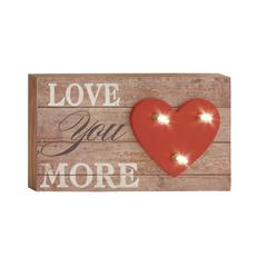 "Splendid Wood Led Wall Sign 12""W, 7""H"