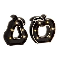 Cool Ceramic Led Apple Pear Set Of 2