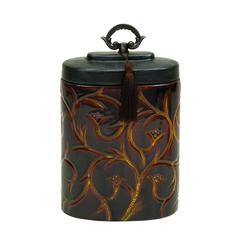 Benzara Ceramic Container With A Spill Proof Lid
