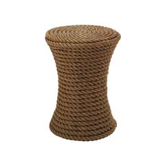 Benzara Afghan Twine Coffee Stool