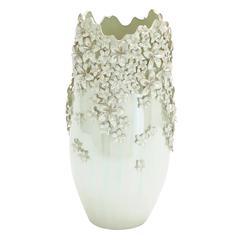 Benzara Victoria Floral Elegant Ceramic Vase