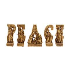Adorable Set Of 5 Peace Nativity