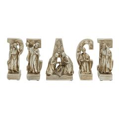 Delightful Set Of 5 Peace Nativity