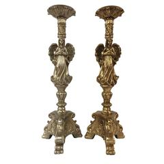 Benzara Antique Themed 2 Assorted Angel Candle Holder