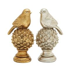Benzara Staggeringly Designed 2 Assorted Bird Décor