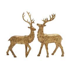 Benzara Mesmerizing Set Of 2 Standing Deer