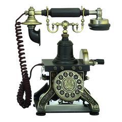 Benzara Brass Functional Antique Phone