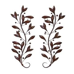 Metal Wall Decor Pair For Wall Decor Upgrade Option