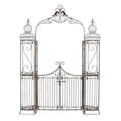 Metal Garden Gate With Natural Brown Tones