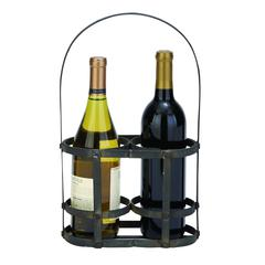 "Iron Metal Wine Basket 15""H, 9""W"