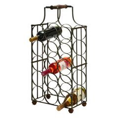 "Sheet Metal Wine Holder 26""H, 12""W"